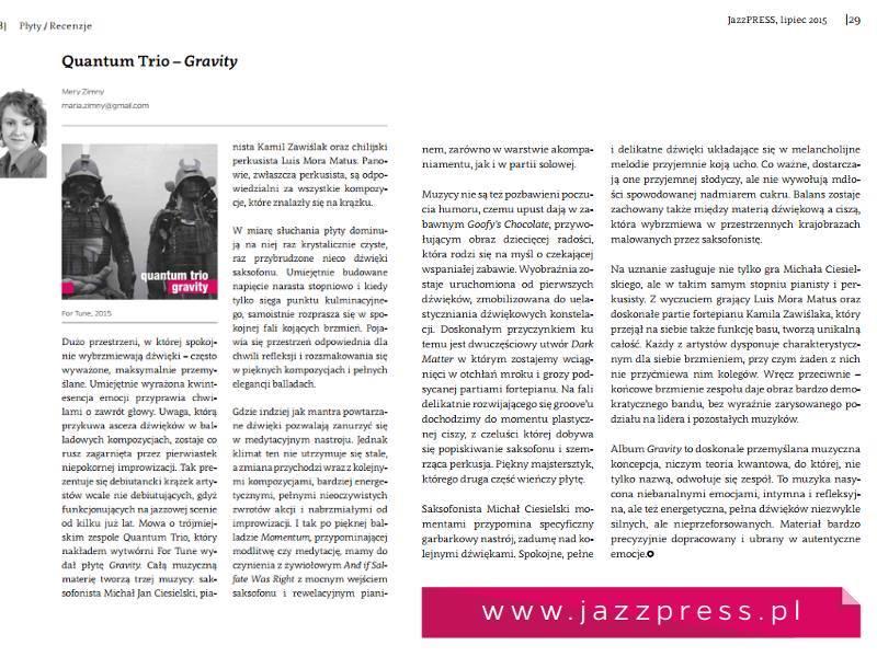 Recenzja JazzPRESS